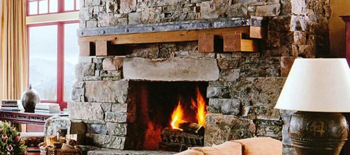20 Inspirations d'intérieurs rustiques 20 Inspirations d'intérieurs rustiques rustic interior design fireplace living room 710x315
