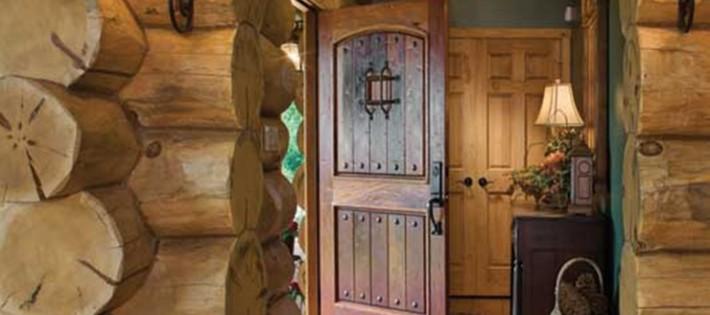 20 Inspirations d'intérieurs rustiques 20 Inspirations d'intérieurs rustiques rustic wooden cabin entrance 710x315