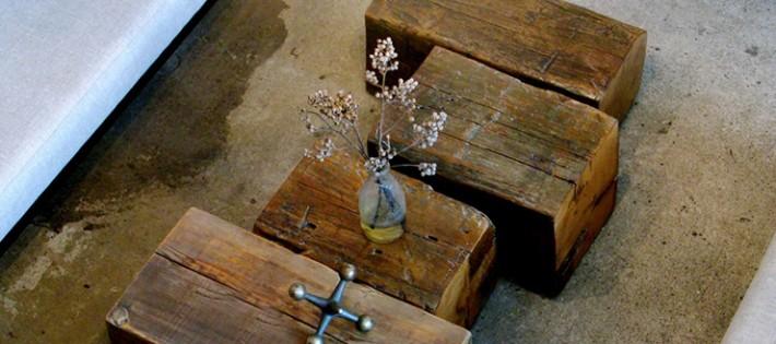 20 Inspirations d'intérieurs rustiques 20 Inspirations d'intérieurs rustiques wooden block centre table 710x315