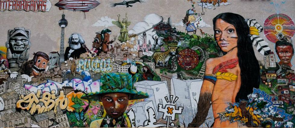 l ́art de rue decorations LA VILLE DE L'ART DE LA RUE : PROJET DE VIE BLEU capa7