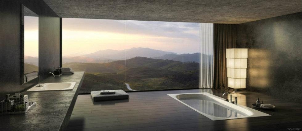 bains TOP 8 MILLIONAIRES SALLES DE BAINS DANS LE MONDE salle de bain luxe design panorama
