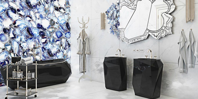 Tendances de Décoration 2018 : Salles de Bain Noir & Blanche luxury residence in italian countryside 2