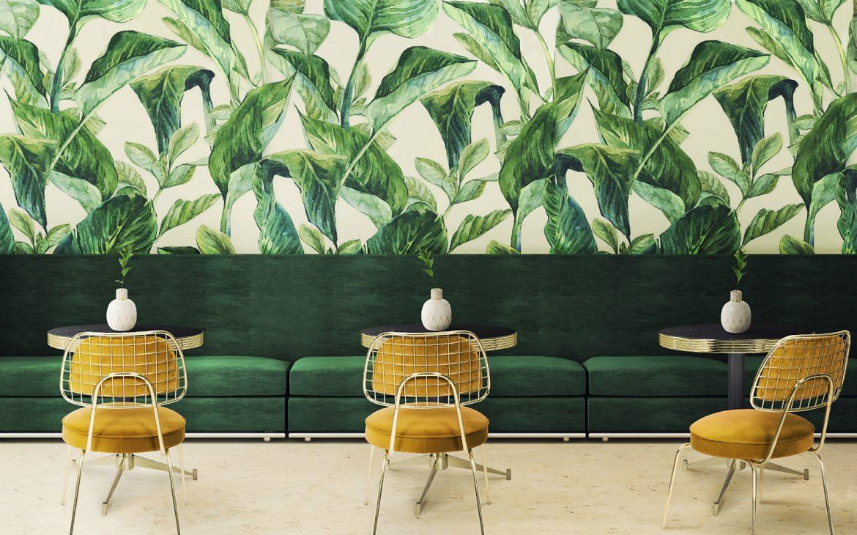 Papier Peint Entree Moderne papier peint tropical : la derniére tendance de décoration