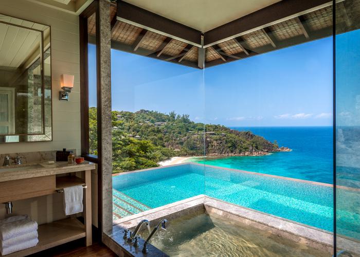 Prix Villégiature Awards: Rencontrez les vainqueurs seychelles four seasons bathroom 0