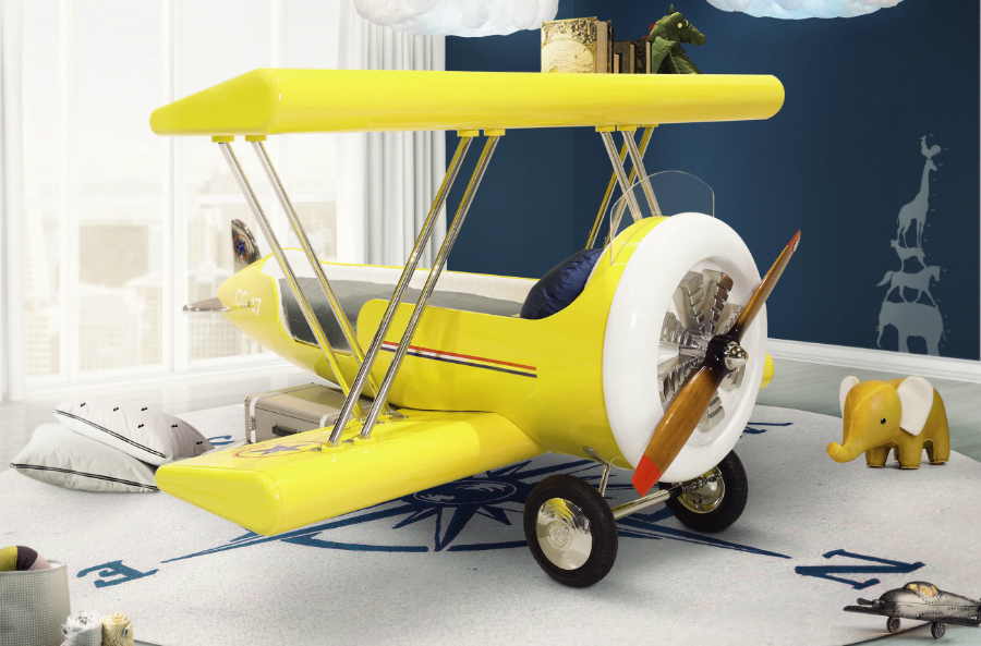 IDEES POUR ENFANTS: LE LIT PARFAIT POUR AVION POUR VOTRE PETIT 'ACE' sky b plane bed circu magical furniture 1