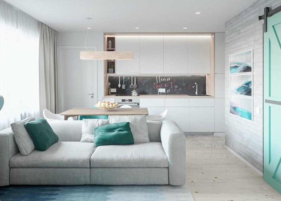 Mélange de Style Scandinave et de Pastels dans un Appartement de Kiev oooo 1