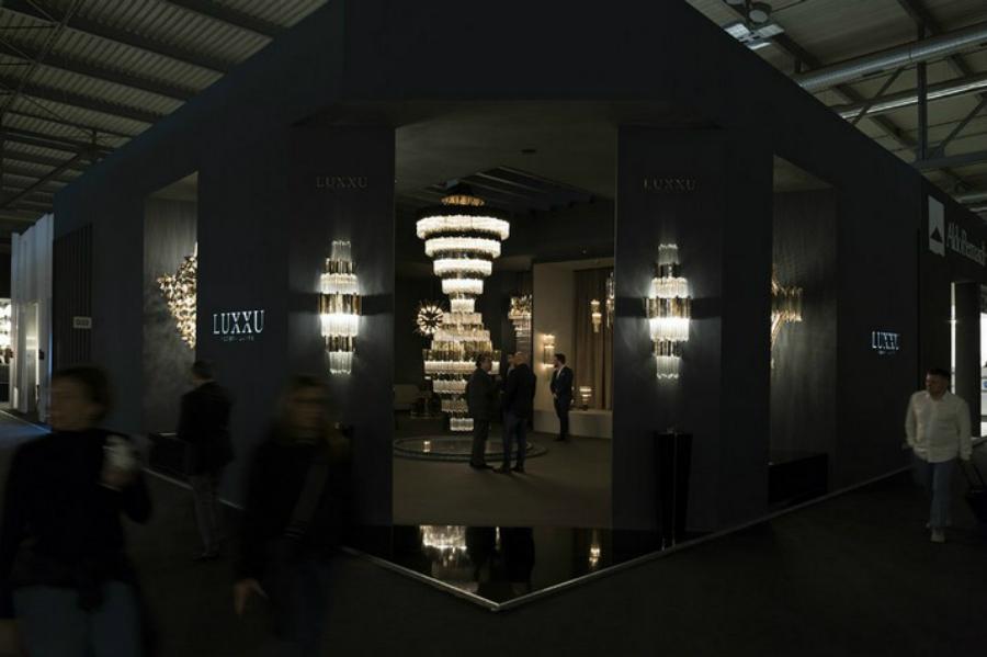 Euroluce 2019 – Luxxu Présente pour la Première fois le lustre Empire XL Euroluce 2019 Luxxu Pr  sente pour la Premi  re fois le lustre Empire XL 1 1