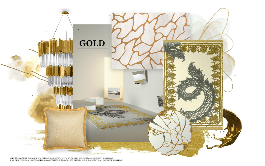 Tendances design d'intérieur 2019 – Accents Dorés trends 2019 gold rugsociety trends for 2019 trends rugs 1
