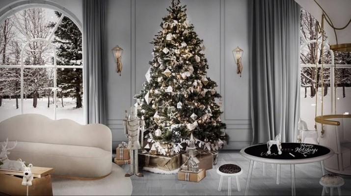 Idées de décoration de Noël de Salon Id  es de d  coration de No  l de Salon 4