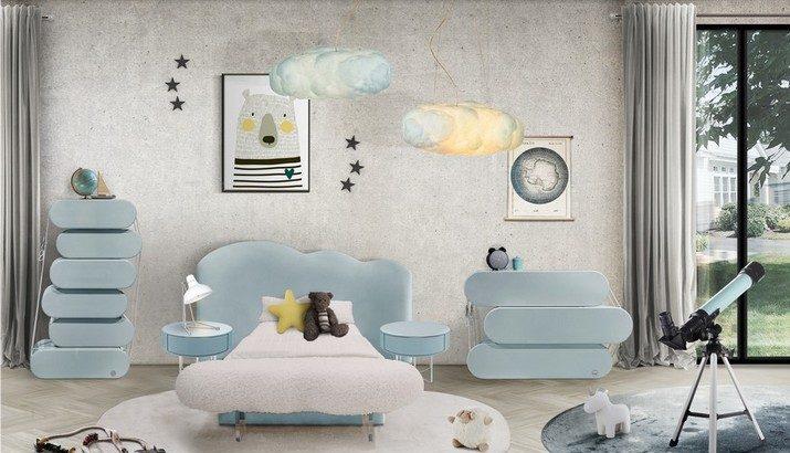 Meubles Bleu Ciel pour le Chambre d'Enfants Meubles Bleu Ciel pour le Chambre dEnfants 1 715x410