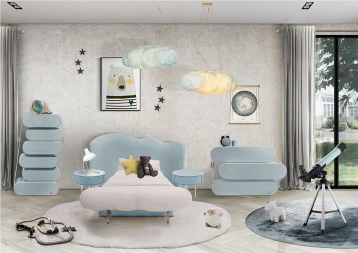 Meubles Bleu Ciel pour le Chambre d'Enfants Meubles Bleu Ciel pour le Chambre dEnfants 1