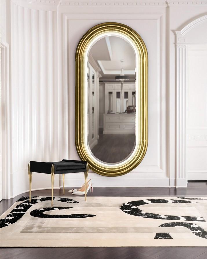 5 Miroirs Muraux Dorés Parfaits pour Votre Salle de Bain 5 Miroirs Muraux Dor  s Parfaits pour Votre Salle de Bain 1