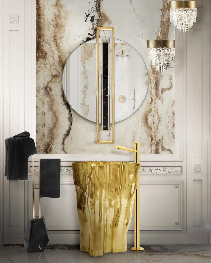 5 Miroirs Muraux Dorés Parfaits pour Votre Salle de Bain 5 Miroirs Muraux Dor  s Parfaits pour Votre Salle de Bain 4