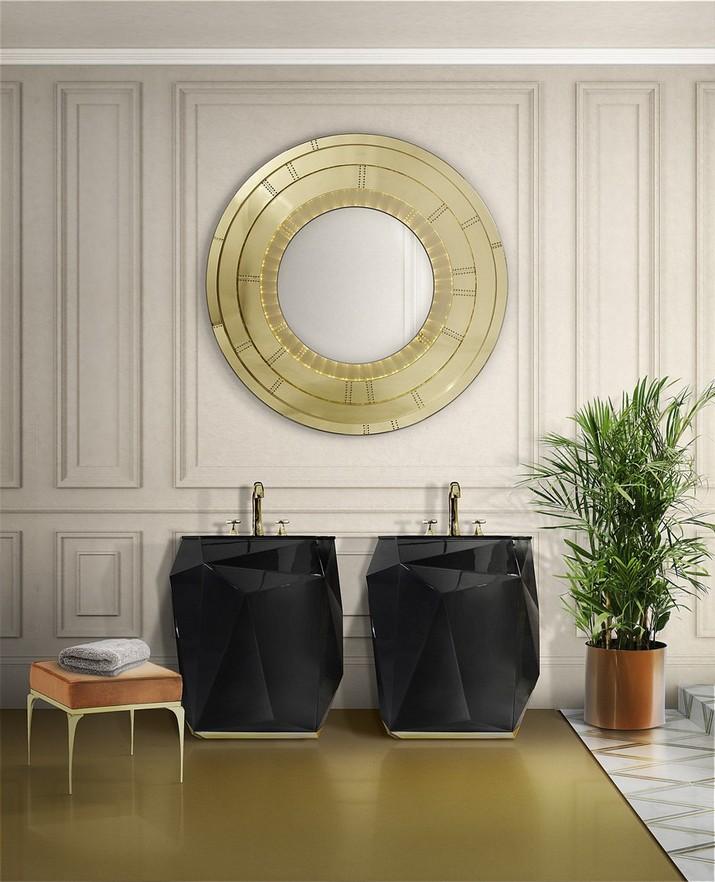5 Miroirs Muraux Dorés Parfaits pour Votre Salle de Bain 5 Miroirs Muraux Dor  s Parfaits pour Votre Salle de Bain 5